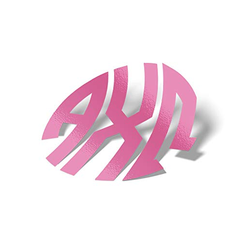 Alpha Chi Omega Sorority Pink No Border Monogram Sticker Decal Exclusively Designed Greek Letter 4 Inches Round for Window Laptop Computer Car AXO