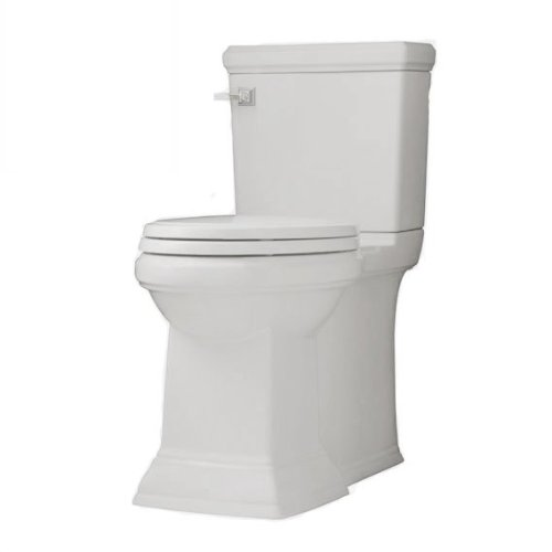 - American Standard 2817.128.020 Town Square Concealed Trapway RH Elongated Toilet with Seat, White