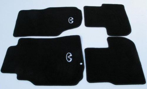nrg-carpet-floor-mats-black-with-silver-logo-infiniti-g35-2dr-03-07-4-piece-set-part-fmr-600