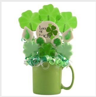 St. Patrick's Day Lucky Irish Mug Lollipop Bouquet