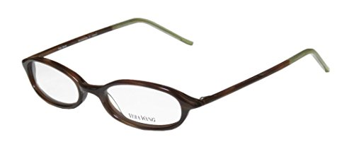 VERA WANG Eyeglasses V134 Brown Horn 47MM
