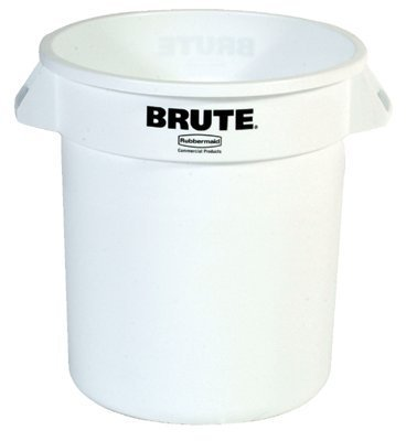 - RCP2610WHI - Rubbermaid 2610WH, Round Brute 10 Gallon Container w/o Lid, White