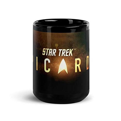 Star Trek: Picard Gold Burst Logo Black Mug - 15 oz