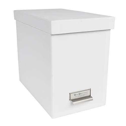 Bigso John Desktop File Thin Label Frame Storage Box, White ()
