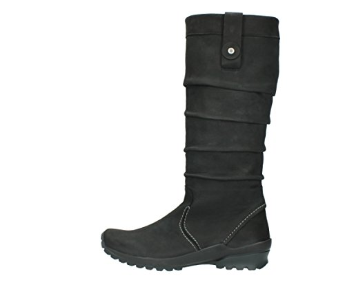 50000 Wolky Joshua Boots Black Leather Oiled Comfort vSSx1wn