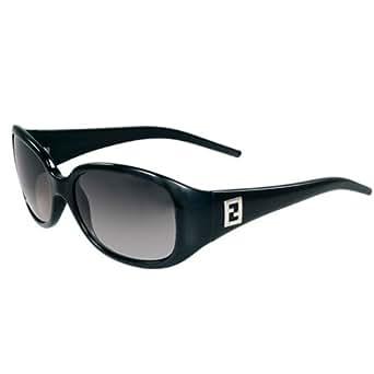 Fendi FS5077-001 Women's Polycarbonate Gray Gradient Lenses Black Plastic Frame Sunglasses