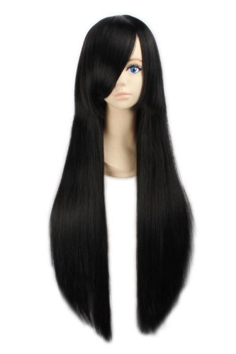 long black fancy dress wigs - 5