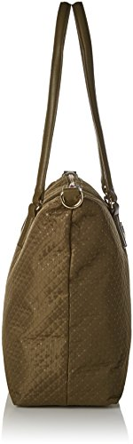 Tommy Hilfiger - Poppy Tote Quilted Argyle, Bolsos de mano Mujer, Marron (Quilted Dark Olive), 14x32x47 cm (W x H L)