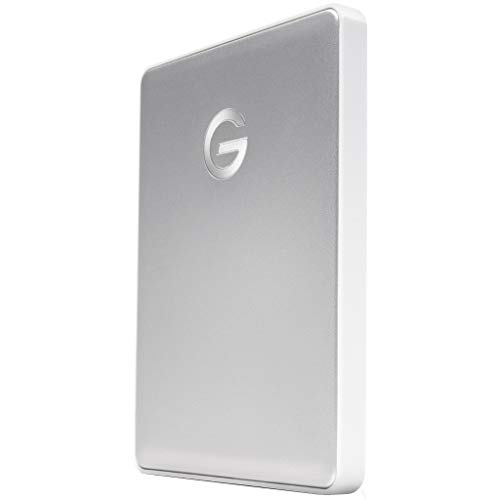 G-Technology 2TB G-DRIVE Mobile USB-C (USB 3.1) Portable External Hard Drive, Silver - 0G10339 (Best 1tb Portable Hard Drive 2019)