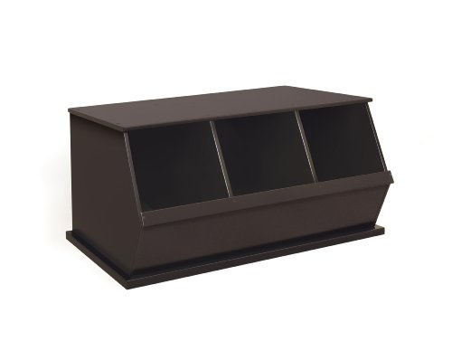 Badger Basket Three Bin Storage Cubby, Espresso by Badger Basket