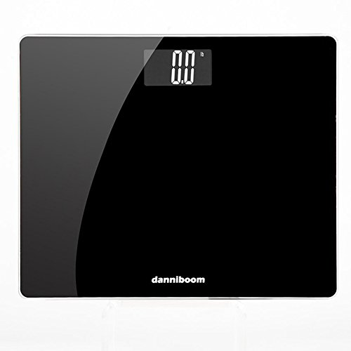 danniboom Digital Body Weight Bathroom Scale with Step-On Technology, Consistant Result, High Precision, Extra Wide Glass Platform 13.8 x 11.4 inch, 400 Pounds