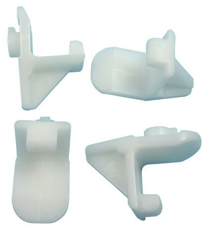 Plastic Shelf Clip, White, Pk of ()