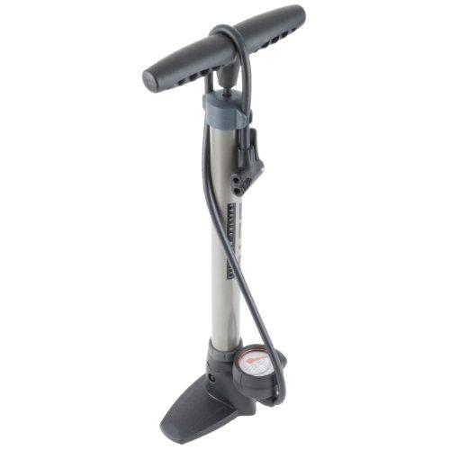 Metall Standpumpe BETO Fahrradpumpe Manometer bis 11 bar - für alle Ventile
