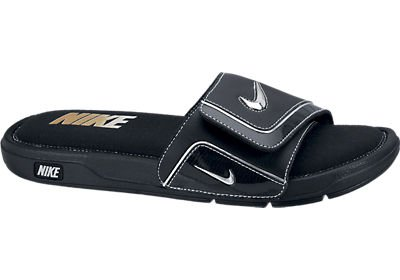 Nike Herren Comfort Slide 2 Sandale Schwarz / Weiß / Silber