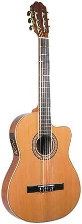 Antonio Hermosa aht-10ce Cutaway Guitarra Clásica, tapa de cedro ...
