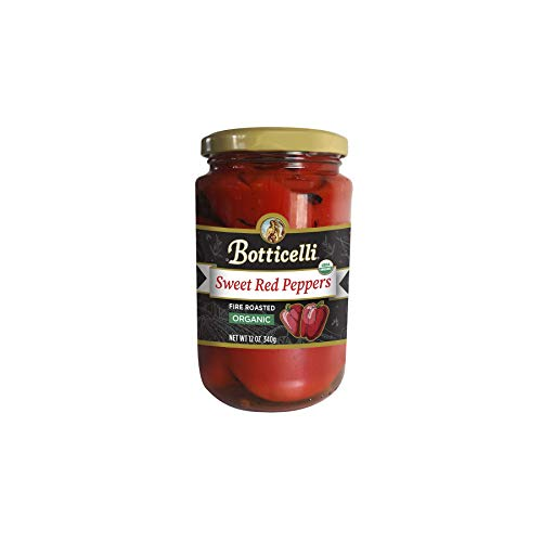 (Botticelli Organic Fire Roasted Sweet Red Peppers. Fire Roasted and Marinated, Great for Sauces, Pasta and Sautéing. Made in Small Batches with Natural Ingredients (12oz/340g))
