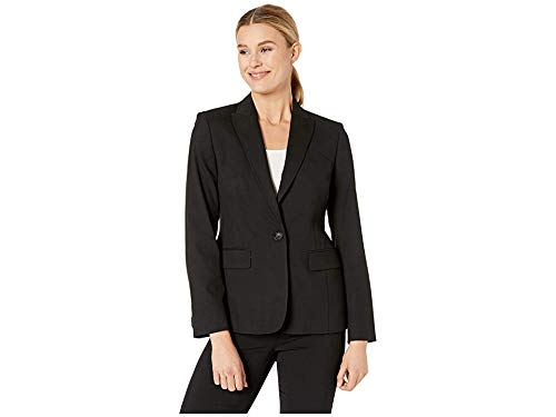 - Jones New York Womens Washable Suiting One Button Jacket Black 8