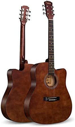 初心者は初心者ミュージカル男性と女性の初心者の学生アダルト41インチの木製ギタークラシックギターの練習します 初心者向け (Color : Brown, Size : 41 inches)