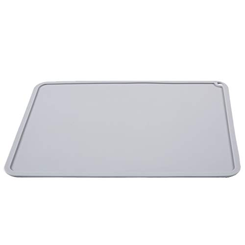 BCZAMD Silicone Slap Mat 410 X 310mm Clean-up or Resin Transfer to Protect Work Surface for ANYCUBIC Photon S DLP SLA LCD 3D Printer Accessories - Gray