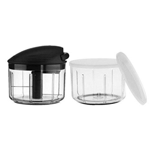 Kuhn Rikon 2.4 Cup Pull & Chop W/extra Bowl & Storage Lids B