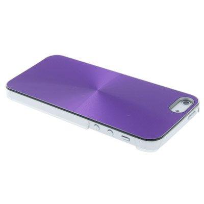 "iPhone 5S Hülle / Case / Cover in lila mit transparentem Rand aus hochwertigem Polycarbonat im ""Core-Alu-Style"" -ORIGINAL nur von THESMARTGUARD-"