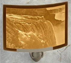 Niagara Falls - Curved Lithophane Porcelain Night - Outlets Falls Niagara Usa