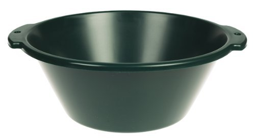 LITTLE GIANT FP18GREEN Dura-Flex Plastic Feed Pan, 18-Quart, Green