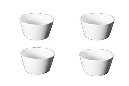 Bia Cordon Bleu Oslo White Porcelain 6-Ounce Ramekin, Set of 4 by BIA Cordon Bleu (Image #1)