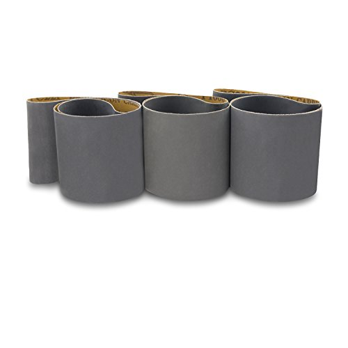4 X 36 Inch Silicon Carbide Extra Fine Grit Sanding Belts 600, 800, 1000 Grits, 3 Pack Assortment