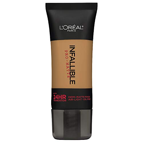 L'Oreal Paris Infallible Pro-Matte Foundation, Caramel Beige [108] 1 oz (Best Drugstore Waterproof Foundation For Swimming)