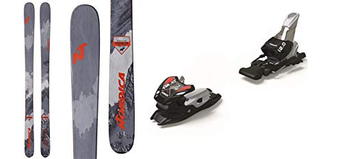 (Nordica Enforcer 93 169cm Skis 2019 & Marker 12.0 TPX Black Silver 110mm Brake Ski)