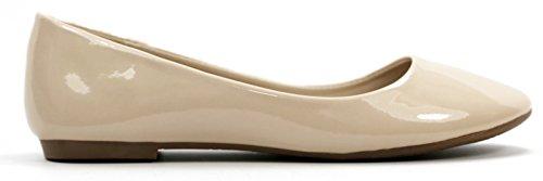 Max Collection May Women Balletto Scarpe Basse Tutti I Colori Vernice Pelle-nudo