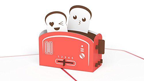 Lovepop Love Toaster Pop Up Card, 3D Card, Love Card, Valentine's Day Card, Romance Card, Cute - Card Valentine