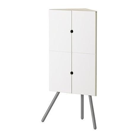 Ikea Ps 2014 Mobiletto Ad Angolo Bianco Grigio 47 X 110 Cm