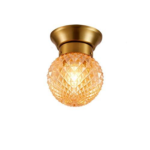 (SNOOKER Modern Minimalist Glass Ceiling Lamp Corridor Aisle Ceiling Lamp Led Pineapple Bedroom Fixture E27-0259)