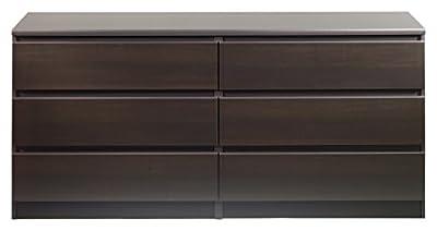 Tvilum 7029620 Scottsdale 6 Drawer Double Dresser, Coffee by Tvilum