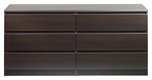 31Bj4p8H%2BpL - Tvilum 7029620 Scottsdale 6 Drawer Double Dresser, Coffee