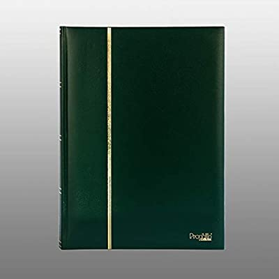 Prophila Lighthouse Stamp Album Stockbook 60 Black Sides, Leatherette Padded Green Cover: Toys & Games