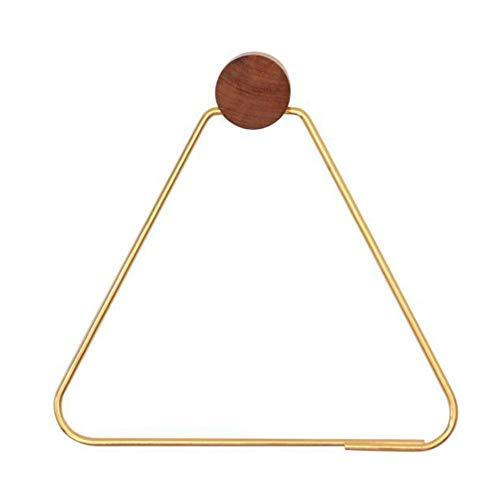 Ring Amerock Towel - Liitrton Triangle Bath Towel Holder Iron Towel Ring Modern Hanging Towel Hanger for Hotel Home Bathroom (Gold)