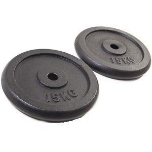 Gewichte-platten Gusseisen Training Scheibe 15kg Gusseisen 2 x 15kg Teller