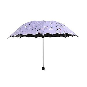 Shuda-Super Light Donna Piccolo Ombrellone Moda Pieghevole Parasole,Ombrello per Protezione Solare UV Antipioggia, 25… 6 spesavip