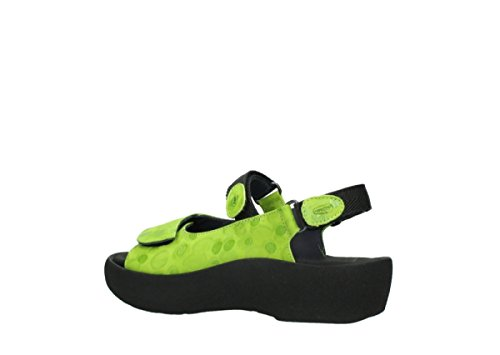 Wolky Womens 3204 Jewel Leather Sandals 12750 Lime Nubuckleather