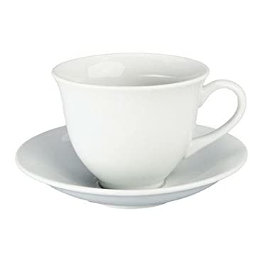 12 oz. Teacup and Saucer [Set of 4]