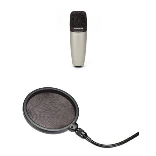 Samson C01 Condenser Mic with Pop Filter (C01 Studio Samson)