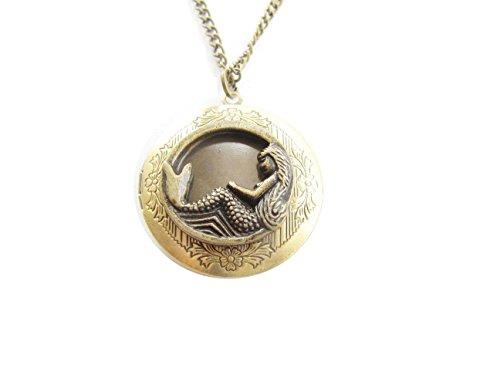 Goddess Locket - Mermaid Necklace, Little Mermaid Locket Necklace,Antique Locket,Goddess,Ocean Locket,
