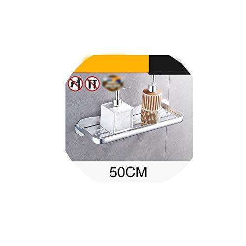 Space Aluminum Shelf Light Space Bathroom Shelves Wall Mount Bathroom Shelf Easy to Install,BS-015O40-1 ()