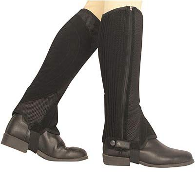 Dublin Easy Care Mesh Half Chaps X-Large Black ()
