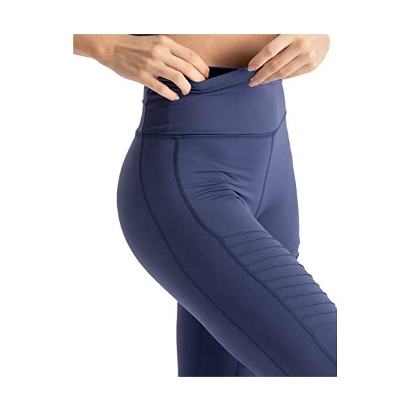 Hopgo Womens High Waist Moto Legging Power Flex Workout Legging 78 Gym Yoga Pants