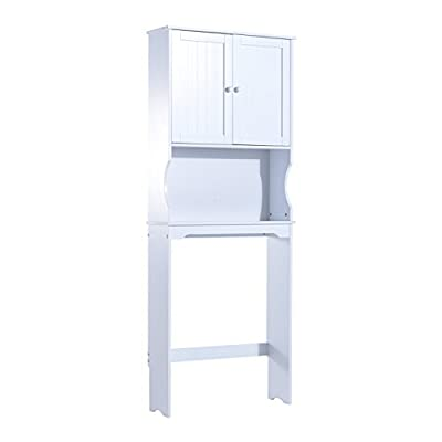 HomCom Over Toilet Free Standing Storage Cabinet