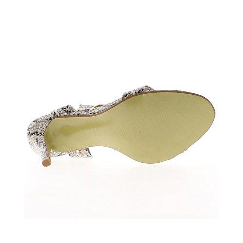 9,5 cm Absatz und vorne fach schwarz Sandalen